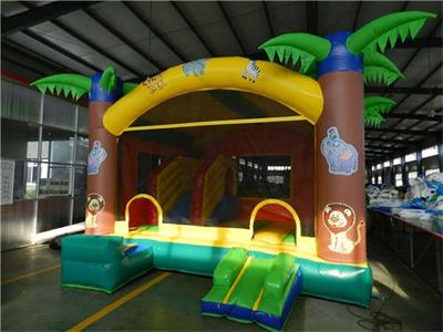 Inflatable jungle bouncy castle