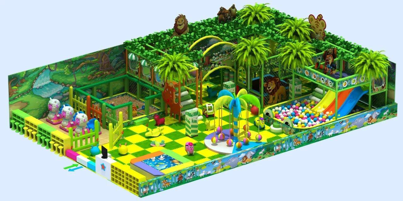 Jungle theme indoor playground