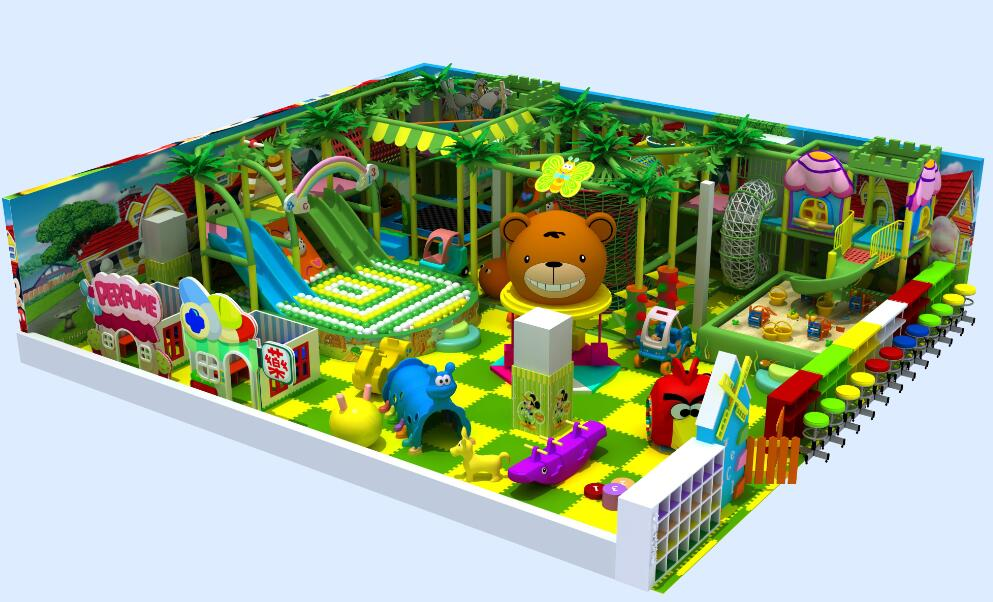 Forest indoor soft play area