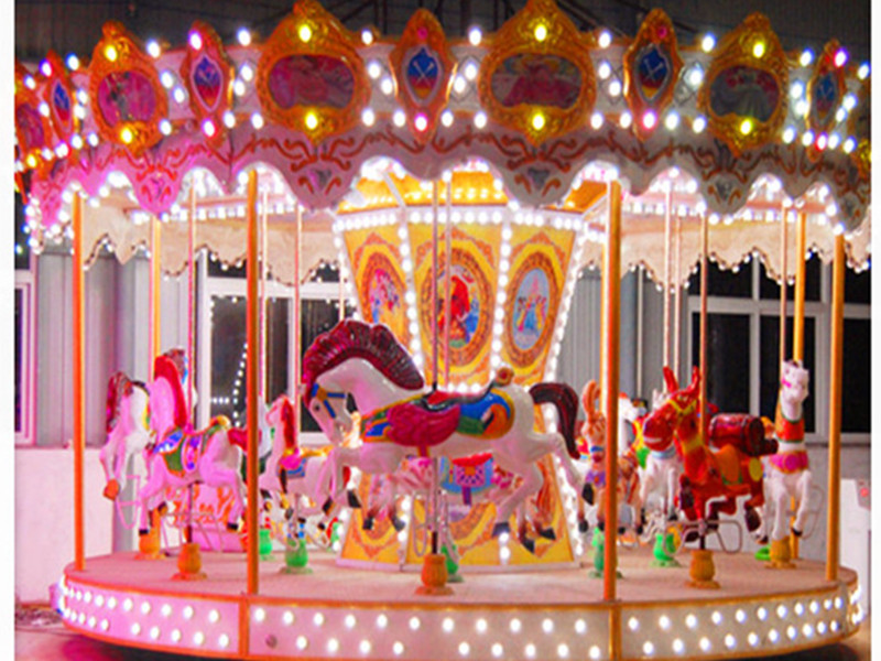 Outdoor carousel with LED light