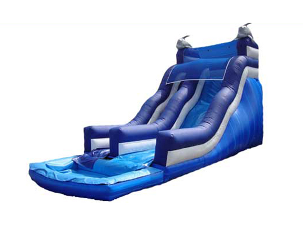 Dophin inflatable water slide