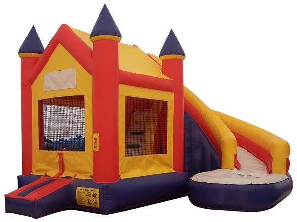Inflatable combo slide
