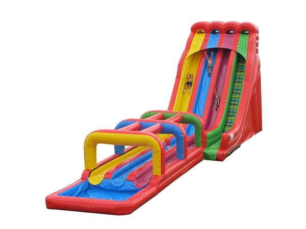 Large inflatable water slip n slide