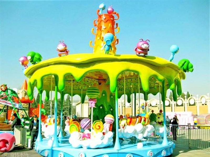 Kids candy carousel rides