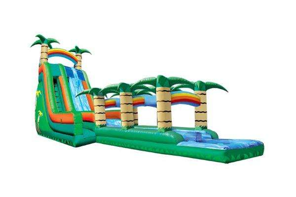 Summer splash water slide