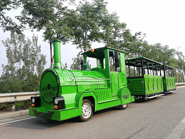 Customed Green Trackless Train