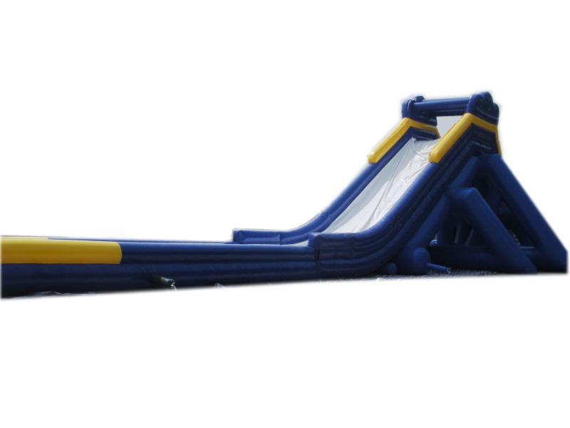 Giant inflatable hippo slide