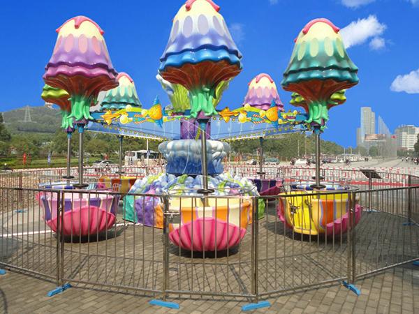 Happy jelly fish rides