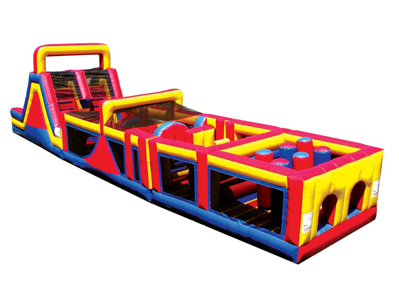 New design inflatable obstacle slide