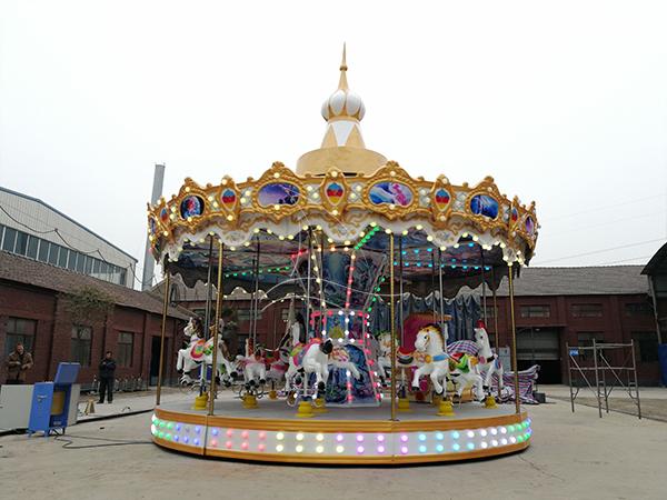Musical carousel rides