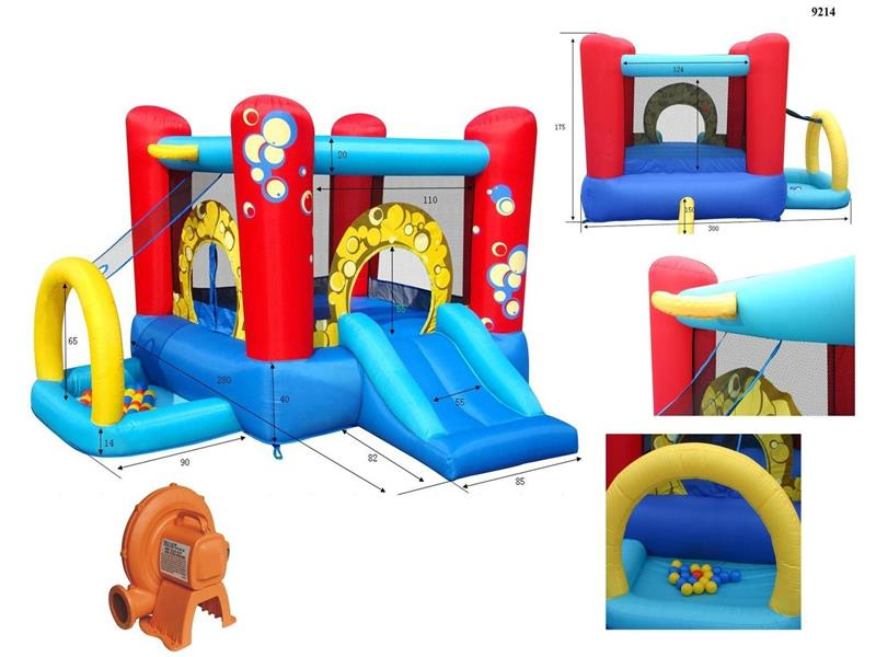 Small inflatable bouncy slide