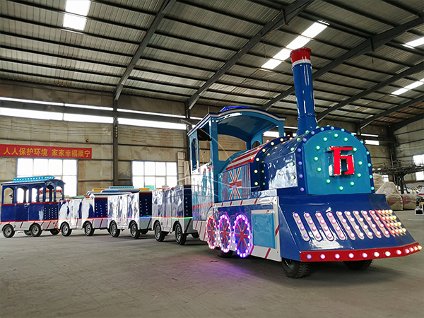 Customized Blue Trackless Train