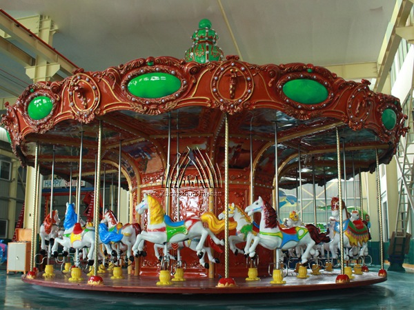 Jinshan luxury red carousel for sale