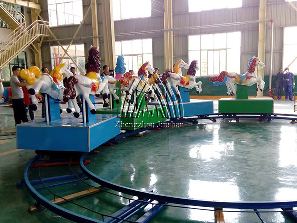 Popular kids track horse train rides