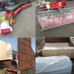 Shipping Mini trackless train and inflatable slide to Ghana