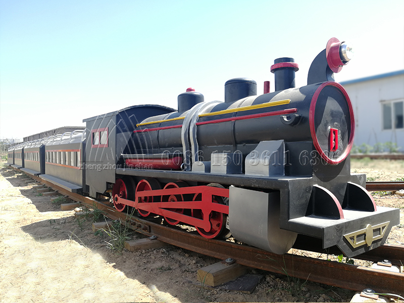 Simulated Steam Track Train Ride
