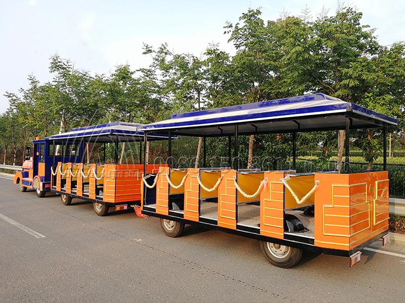 Tourist Orange Trackless Train