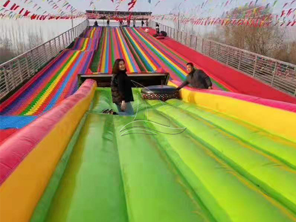Inflatable Bag Rainbow Dry Snow Slope Slide