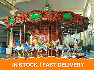 Luxury red carousel for sale